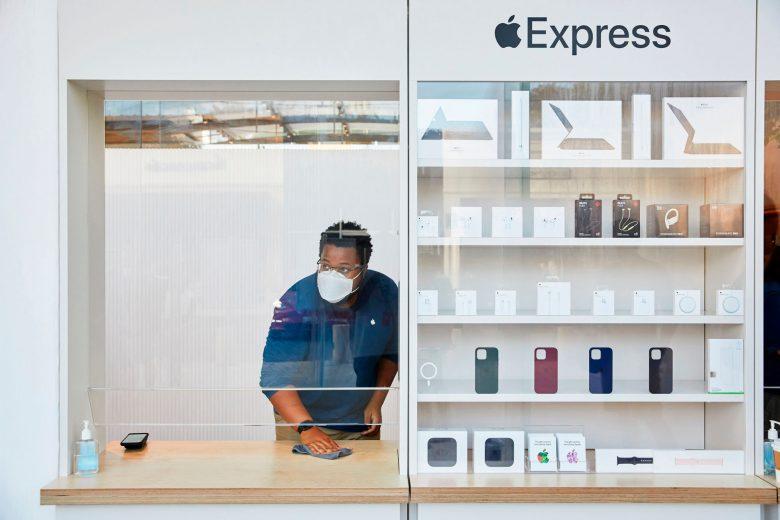 Tienda Apple Highland Village en Houston, TX, EUA con modalidad Express