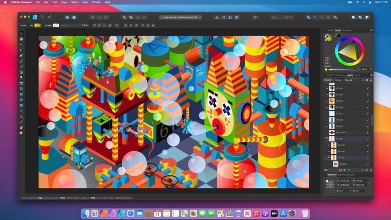 Affinity Designer corriendo en macOS Big Sur