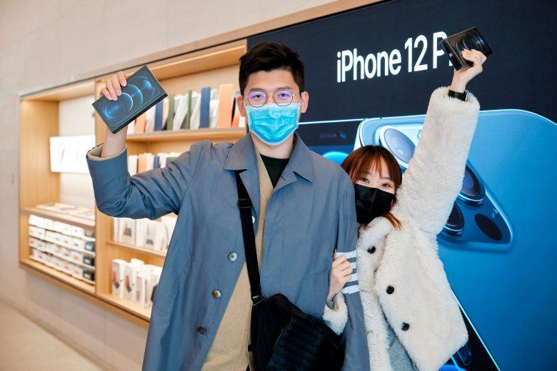 Lanzamiento del iPhone 12 Pro Max y iPhone 12 mini en la Apple Store Sanlitun en China 01
