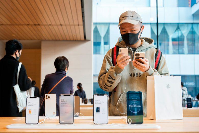 Lanzamiento del iPhone 12 Pro Max y iPhone 12 mini en la Apple Store Sanlitun en China 03