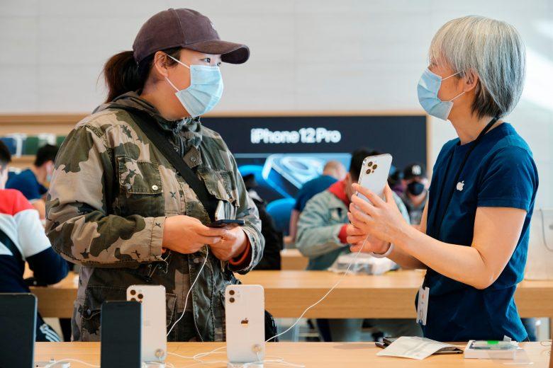 Lanzamiento del iPhone 12 Pro Max y iPhone 12 mini en la Apple Store Sanlitun en China 04