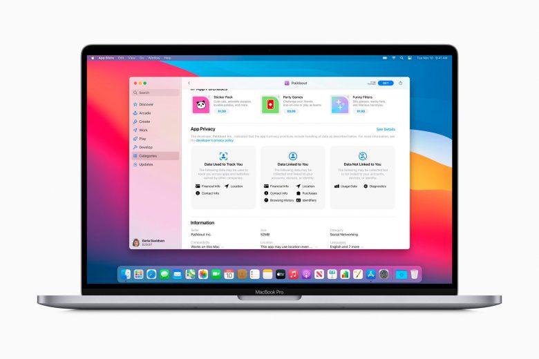 MacBook Pro con macOS Big Sur