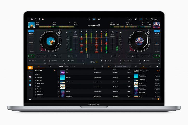 Nuevo MacBook Pro de 13 pulgadas con la aplicación djay Pro