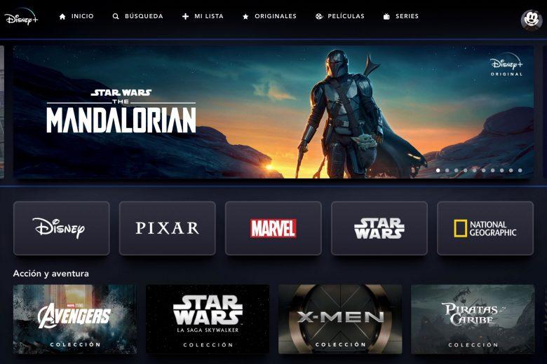Sitio web de Disney+