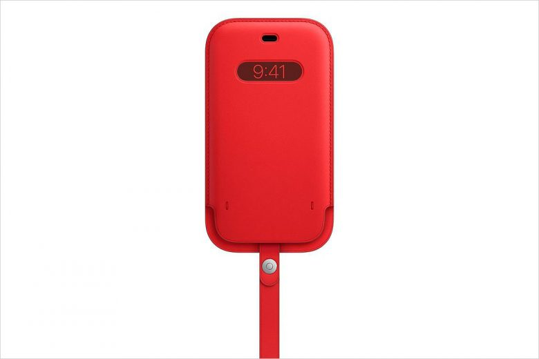 Funda integral de piel para el iPhone 12 en color rojo