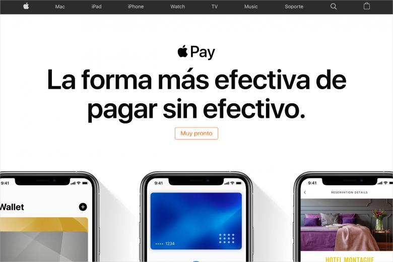 Página oficial de Apple Pay de México