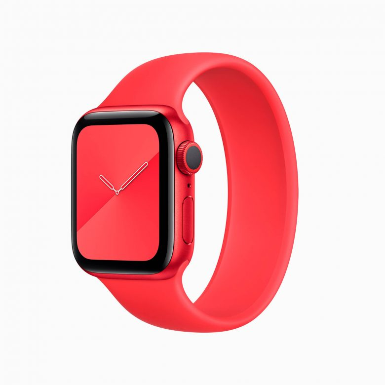 Apple Watch Series 6 (PRODUCT) RED con correa Solo Loop (PRODUCT) RED