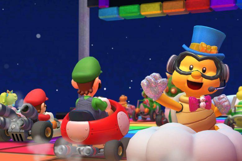 Lakitu festivo en la Temporada de Año Nuevo 2021 de Mario Kart Tour