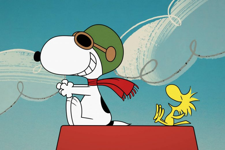 "Snoopy y Woodstock en ""The Snoopy Show"""