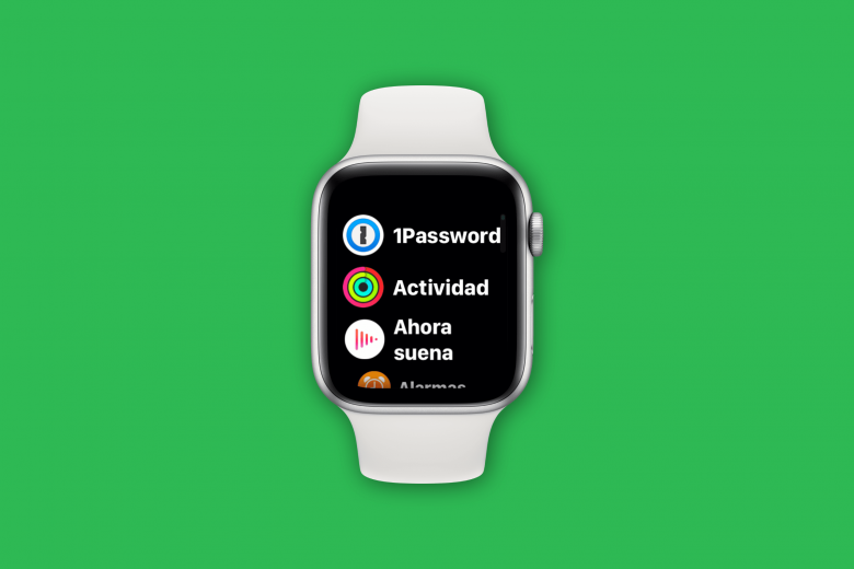 Vista de lista de aplicaciones en el Apple Watch
