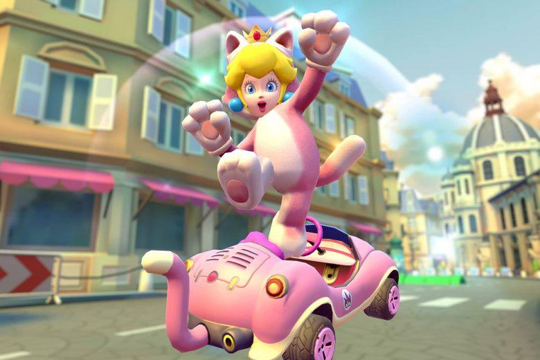 Peach Felina en la temporada Felina de Mario Kart Tour