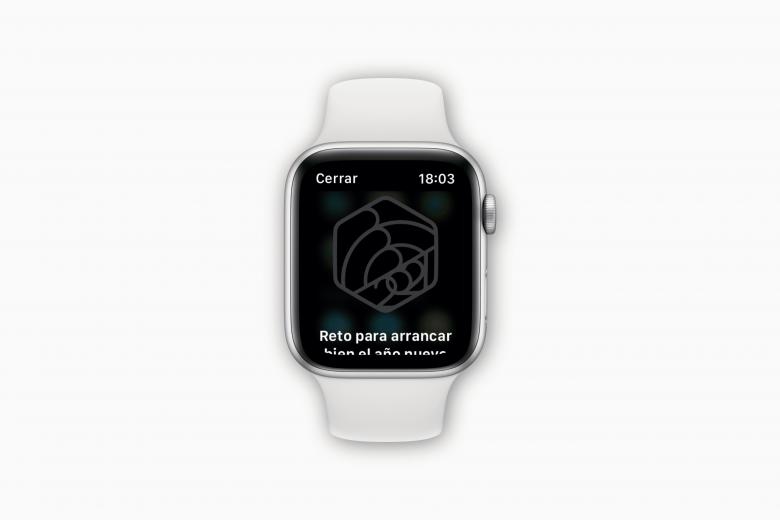 """Reto de actividad """"para arrancar bien el año nuevo"""" en el Apple Watch"""