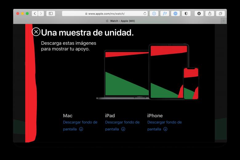 Enlaces a los fondos de pantalla Unidad para iPhone, iPad y Mac