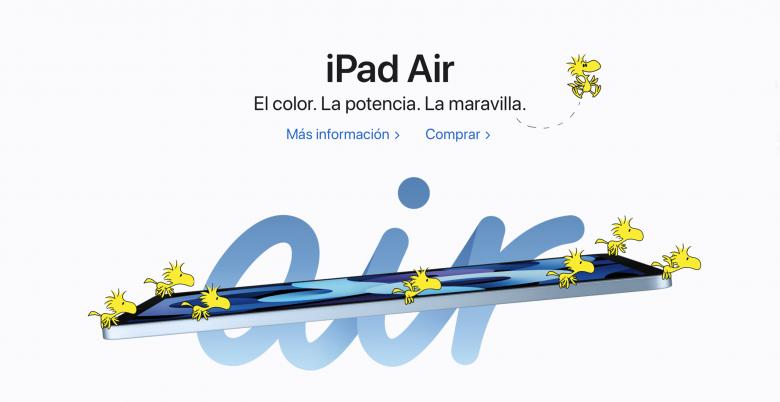 Woodstock y sus amigos hacen volar a un iPad Air