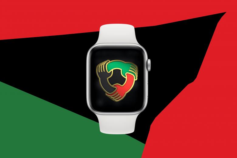 """Insignia del reto de actividad """"Unidad"""" en el Apple Watch"""