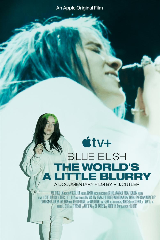 """Poster oficial de """"Billie Eilish: The World's A Little Blurry"""""""