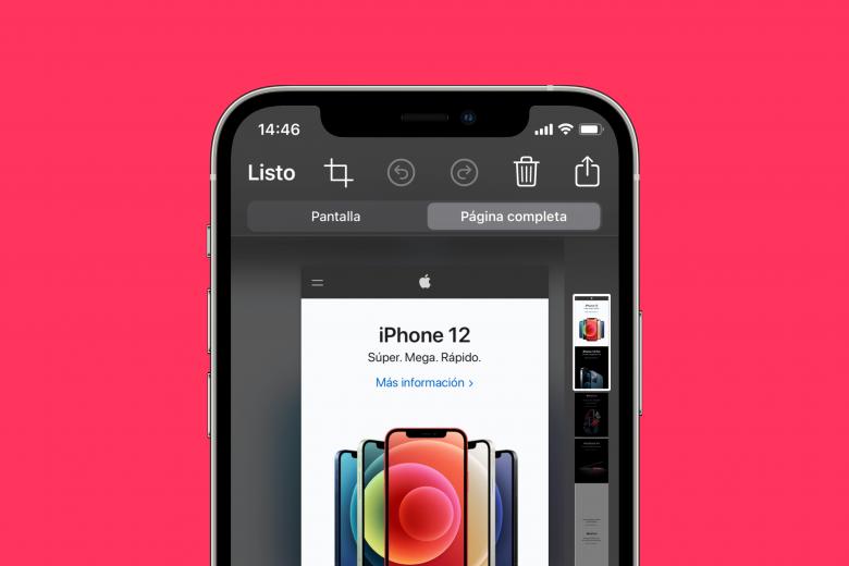 Cómo hacer una captura de pantalla de una página web entera en el iPhone