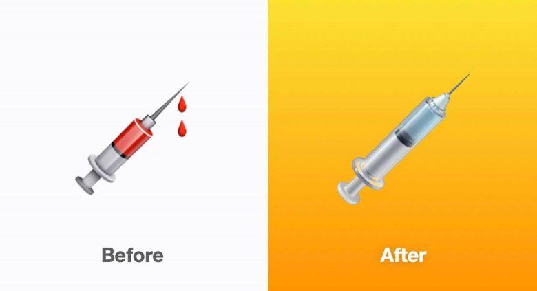 "Emoji ""Jeringa"" actualizado en iOS 14.5"