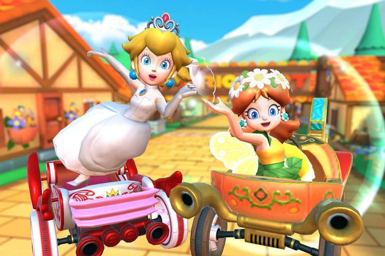 Peach Novia y Daisy Ada en la temporada de Peach vs Daisy de Mario Kart Tour