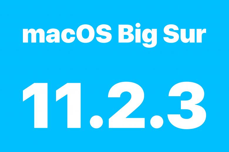 Actualización macOS Big Sur 11.2.3