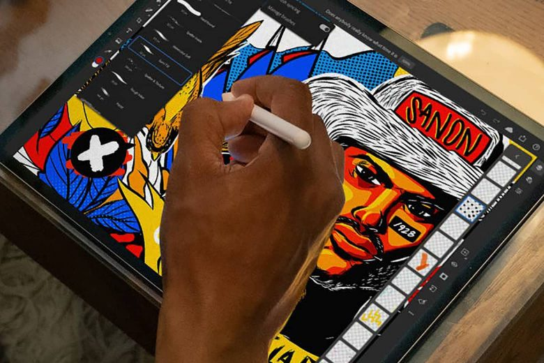 Adobe Design Mobile Bundle en un iPad con Apple Pencil 2