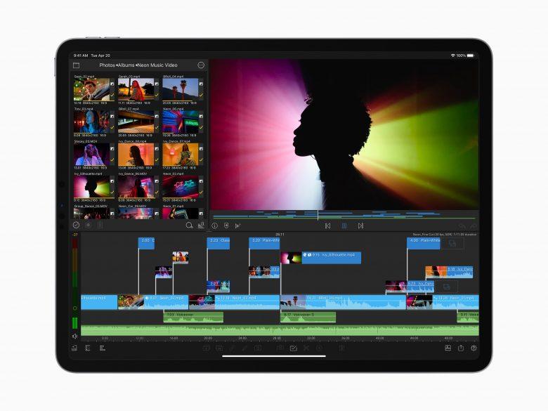 El nuevo iPad Pro con una aplicación de edición de video