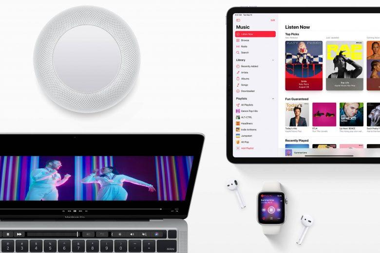 Apple Music en Mac, iPad, Apple Watch y HomePod
