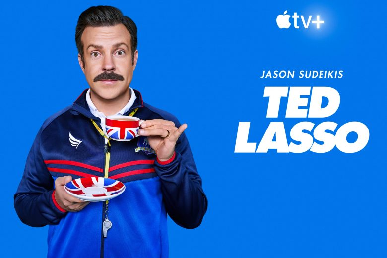 "Jason Sudeikis como Ted Lasso en ""Ted Lasso"""