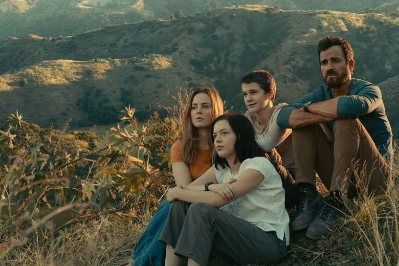 "Justin Theroux, Melissa George, Logan Polish y Gabriel Bateman en ""The Mosquito Coast"""