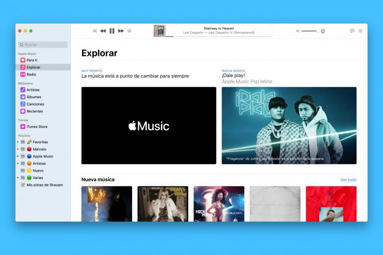 Teaser en Apple Music para Mac