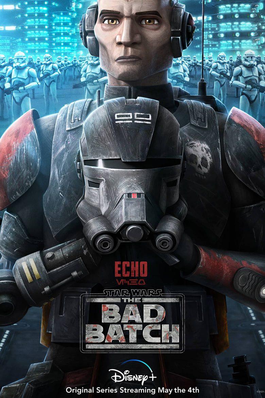 """Poster de personaje de Echo en """"Star Wars: The Bad Batch"""""""