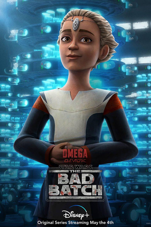"""Poster de personaje de Omega en """"Star Wars: The Bad Batch"""""""