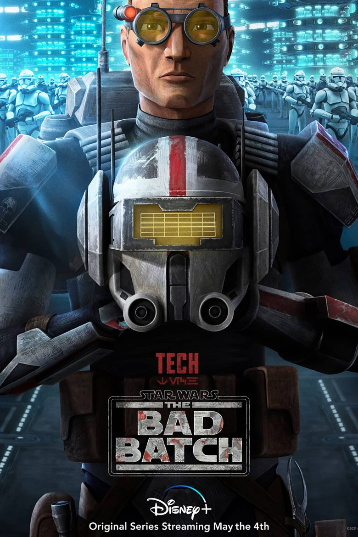 "Poster de personaje de Tech en ""Star Wars: The Bad Batch"""