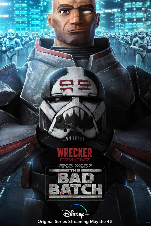 "Poster de personaje de Wrecker en ""Star Wars: The Bad Batch"""