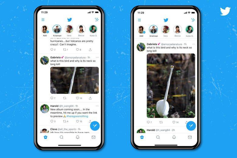 Vistas previas de las imágenes con menos recorte en Twitter para iOS