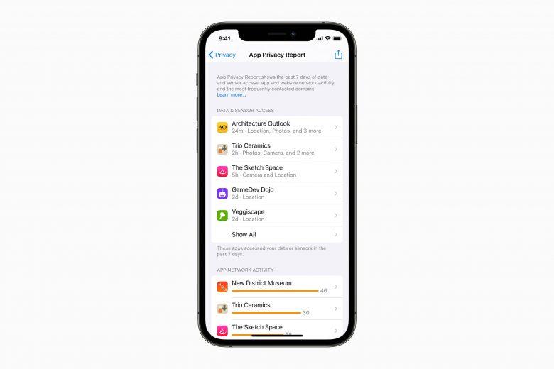Informe de privacidad en iOS 15