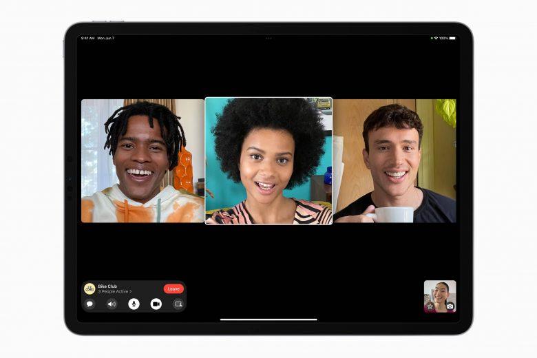 Nueva vista de cuadricula en FaceTime en iPadOS 15