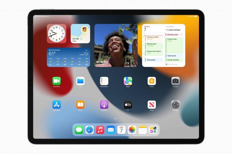 Widgets en la pantalla de inicio en iPadOS 15