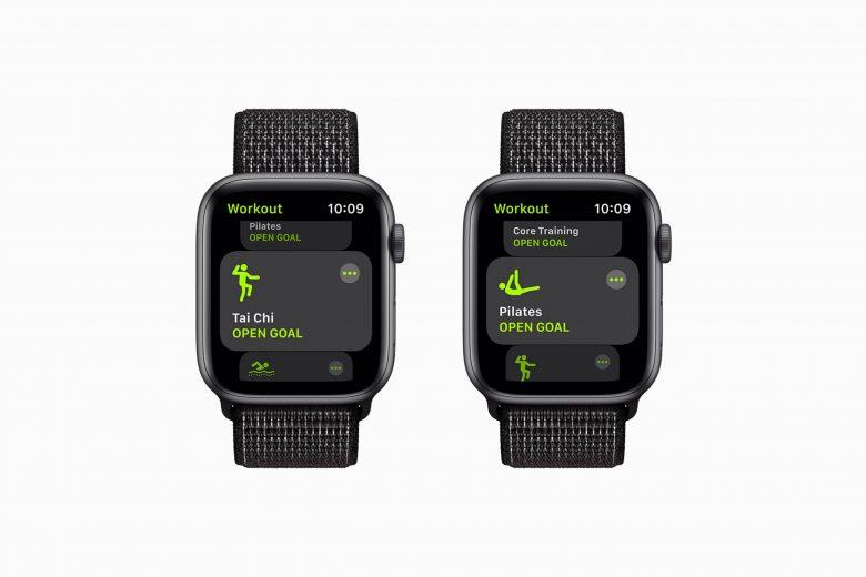 Nuevos ejercicios de Tai Chi y Pilates en watchOS 8