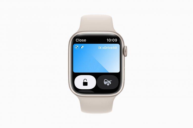 Lllaves digitales del automóvil en la aplicación Wallet en watchOS 8