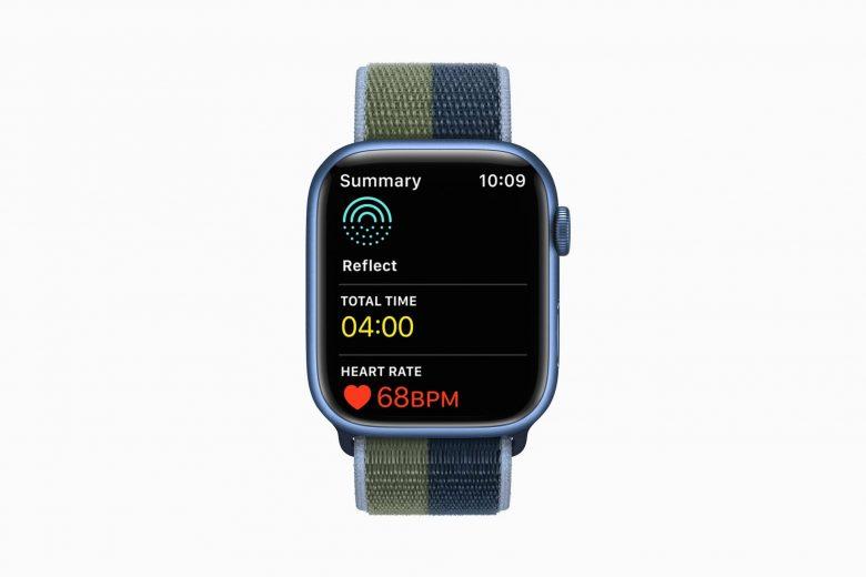 Aplicación Mindfulness en watchOS 8