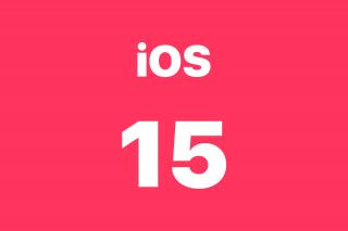 Actualización de software iOS 15
