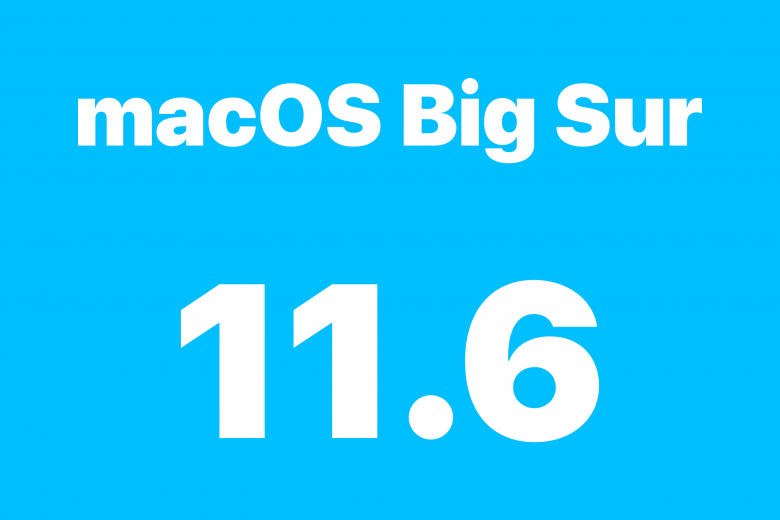 Actualización de software macOS Big Sur 11.6