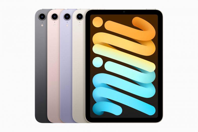 El nuevo iPad mini está disponible en nuevos colores, incluyendo gris espacial, rosa, púrpura y blanco estrella