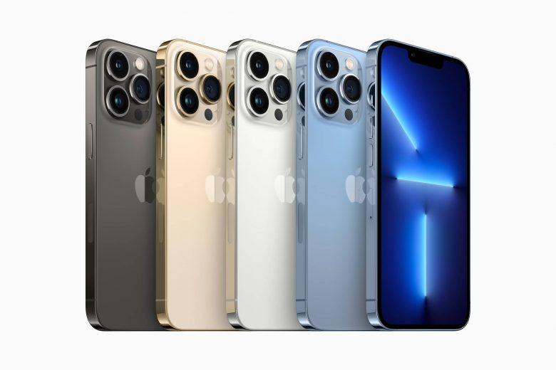 El iPhone 13 Pro estará disponible en colores grafito, oro, plata, y azul sierra