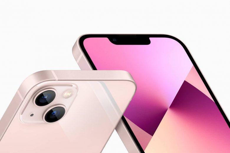 """iPhone 13 en color rosa con """"notch"""" más pequeño y modulo de la cámara trasera rediseñado"""