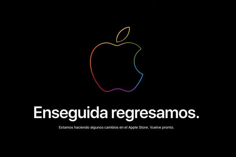 Mensaje de Apple Store en linea cerradas
